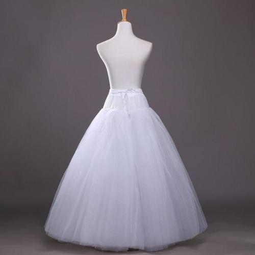 Elegant A Line Bridal Petticoat 4 Layers Tulle Underskirt Women Petticoat Crinoline Without Hoop Bridal Wedding Accessories 2020