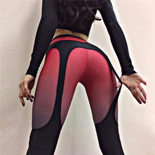 High Waist Patchwork Slim Elastic Skinny Long Yoga Leggings Pants