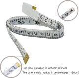 Soft Tape MeasureDouble Scale Body Sewing Flexible Ruler for Weight Loss Medical Body Measurement Sewing Tailor Craft Vinyl Ruler, Has Centimetre Scale on Reverse Side 60-inch(White)
