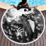 Swimming Towel Sugar Skull Print Microfiber Beach Towel For Adult Yoga Mat Tassel Large Round Towel 150cm Tapestry Home Decor