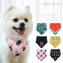 Lovely Cat Dog Bandana Bibs Scarf Collar Adjustable Pet Neckerchief Scarf Waterproof Saliva Towel for Small Medium Large Dogs
