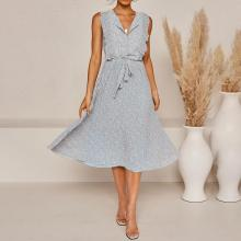 Fashion casual ruffled dress