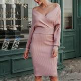 Fashion V-Neck Tight-Fitting Evening Dress