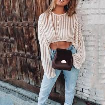Sexy Hollowed Out Long Sleeved Sweater