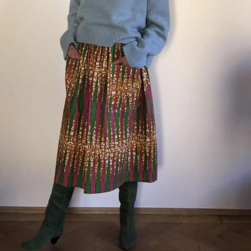 Womens Casual Printed Pockets Skirt RY58