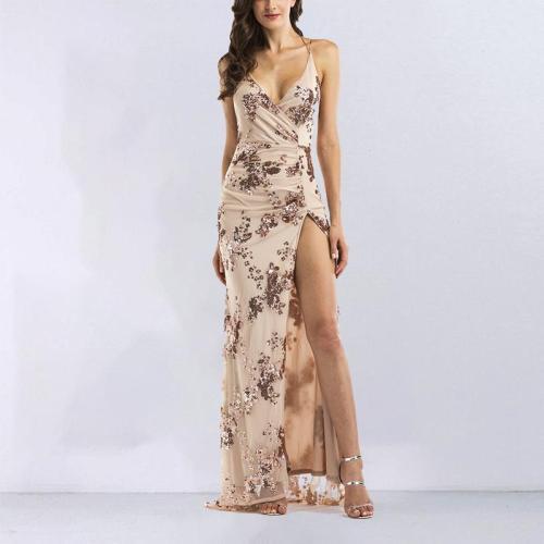 Sexy Suspender Halter Evening Dress