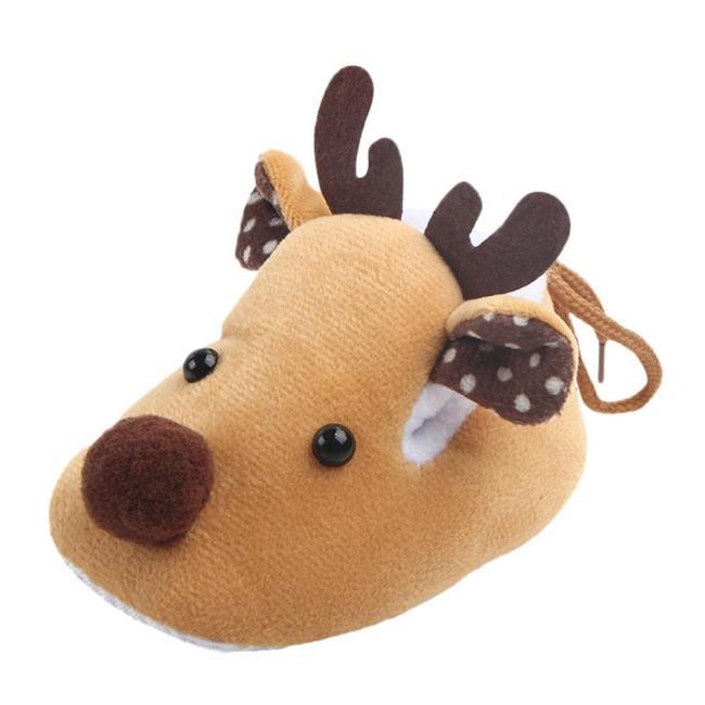 Christmas Baby Shoes Girls Boys First Walkers Cute Cartoon Deer Crib Soft Sole Casual Winter Warm Toddler Newborn Shoes 19Nov
