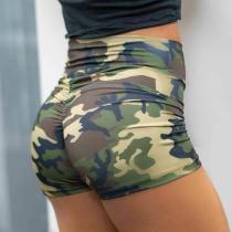 Women Yoga Shorts 2020 Feminino Hot Short Camouflage Print Athletic Summer Sports High Waist Spodenki Damskie Short Femme