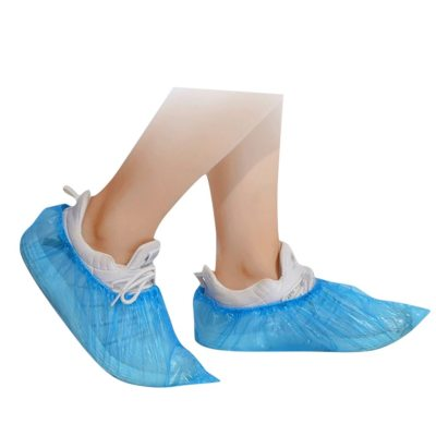 100Pcs/set Plastic Waterproof Disposable Shoe Covers Rainy Day Floor Protector Cleaning Shoe Cover Blue Hot Sale Shoe Cover