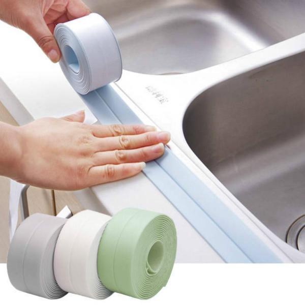 Self-adhesive kitchen ceramic stickers waterproof moisture-proof PVC stickers bathroom corner line sink stickers bathroom