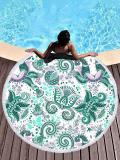 Green Chic Printed Round Beach Mats