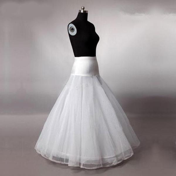 Elegant A Line Bridal Petticoat Tulle Lace Appliqued Edge Women Petticoat Crinoline Without Hoop Bridal Wedding Accessories 2020