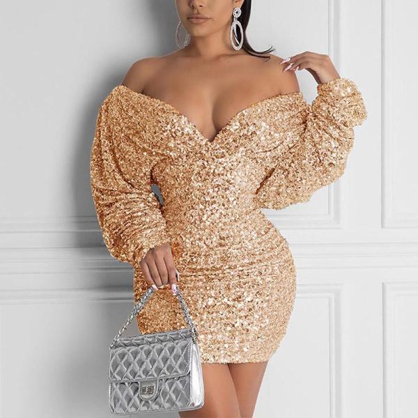 Fashion Sexy Sequin Bodycon Dress