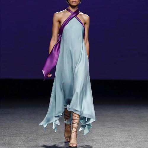 Sexy Exposed Back Sleeveless Irregularity  Evening Dresses