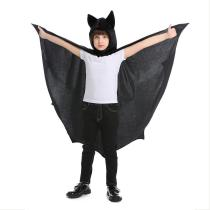 Kids Bat Costume Halloween Bat Vampire Hooded Cloak Funny Cosplay Party Cape