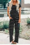 EBUYTIDE Casual Simple Striped Jumpsuit