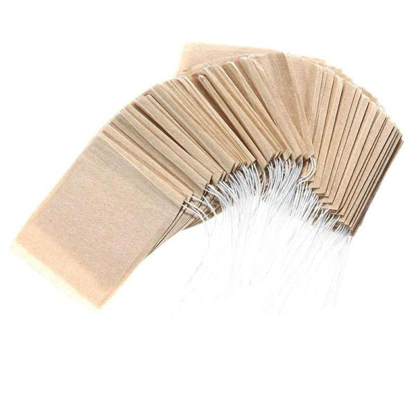 Tea Filter Bag Disposable Paper Tea Bag with Drawstring for Safe and Strong Penetration Of Unbleached Paper, Suitable for Loose