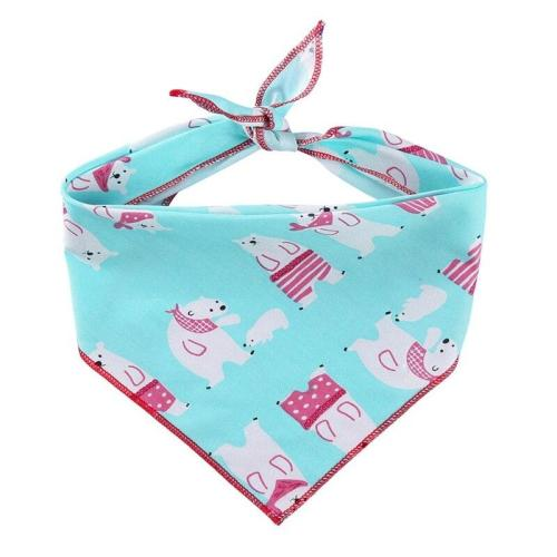 Pet Dog Cotton Bandana Scarf England Style Triangle Bibs For Small Medium Dogs Cute Printed  Adjustable Triangle Collar Scarf-
