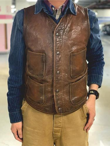 Men's Vintage Classic Leather Vest