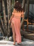 Split-front Lace Up Beach Skirt Bottom
