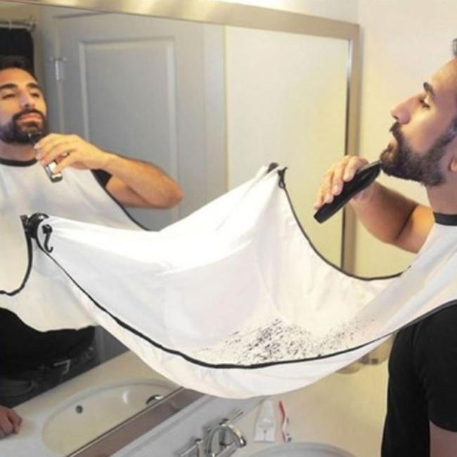 1pc Men Beards Shaving Aprons Creative Wall Mirror Suction Haircut Wrap Cape Home Salon Moustache Beard Shaving Apron