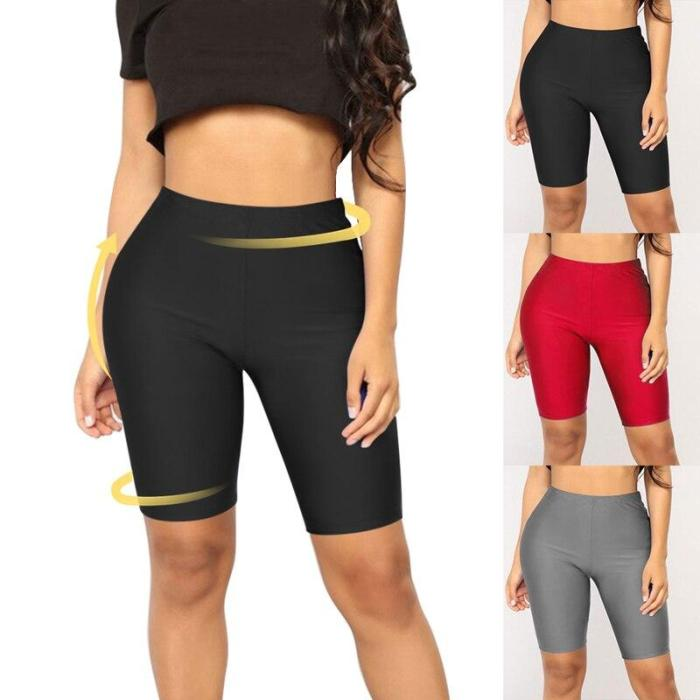 EBUYTIDE Women Sexy High Waist Yoga Shorts Leggings Solid Gym Fitness Tights Push Up Sports Wear Slim Workout Trousers 2020 New