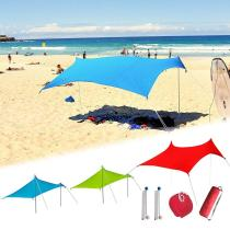 Beach Sunshade Lightweight Portable Sun Shade Tent With Sandbag UV Lycra Large Family Canopy For Outdoor Beach Fishing Camping