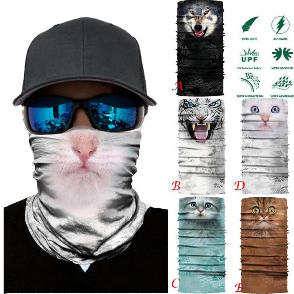 High Elastic Hiking Scarf Sports Bandana Head Scarves Outdoor Camping Neck Scarf Riding Fashion Mask Sun Protection Bandanas