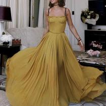 Sexy Pure Colour Sleeveless Sling Maxi Dresses