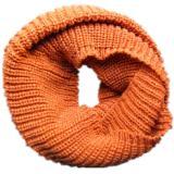 Women Winter Warm 2 Circle Cable Knit Cowl  Neck Long Scarf Shawl WJ3