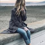 British Style Vintage Plaid Cardigan Coat