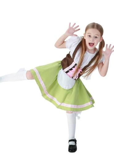 Halloween German Oktoberfest Girls' Maid Dress
