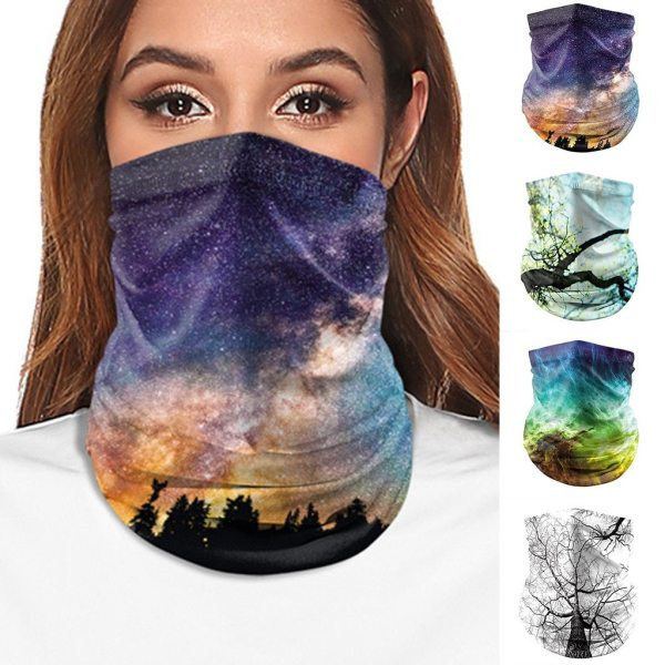 Hiking Scarves Men Polyester Breathable Collar Windproof Anti UV Neck Cover Face Mask Fishing Hunting Cycling Bandana June 30th