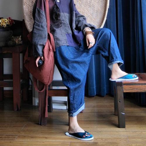 Vivid Blue Linen Pants
