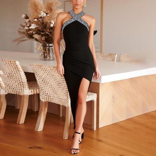 Fashion Sexy Hanging Neck Bodycon Dress