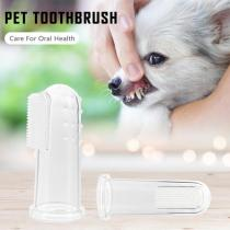 10pcs Transparent Super Soft Pet Finger Toothbrush Teddy Dog Brush Bad Breath Tartar Teeth Tool Dog Cat Cleaning Supplies