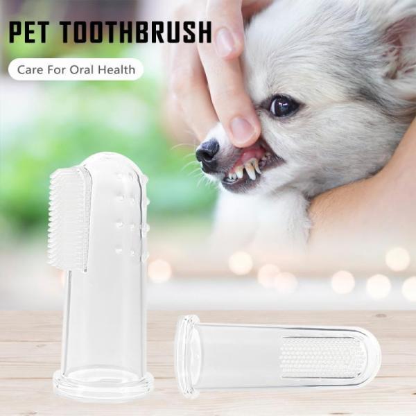 10pcs Transparent Super Soft Pet Finger Toothbrush Teddy Dog Brush Bad Breath Tartar Teeth Tool Dog Cat Cleaning Supplies