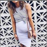 2020 Dress For Pregnant Women Pregnancy Women New Fashion Solid Color Sleeveless Maternity Pregnat Comfortable Midi Dresses