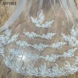 2020Wholesale 3M 5M One Layer Lace Edge White Ivory Catherdal Wedding Veil Long Bridal Veil Cheap Wedding Accessories