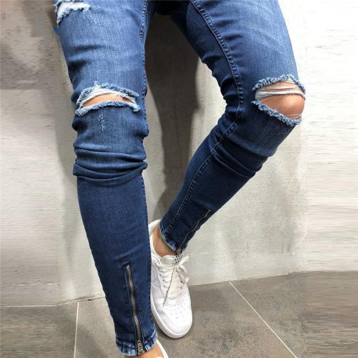 Men's Casual Fashion Hole Jeans