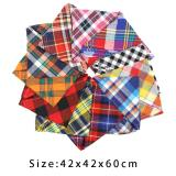 Dog Bandana Cotton Plaid Pet Scarf Bow ties Collar Square Triangular bandage for Small Big Pet Dog Accessories Gifts