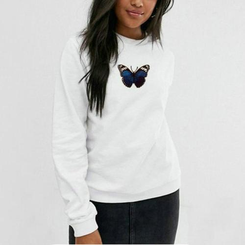 pink velvet Oversized Women Sweatshirts Winter Hoodies Streetwear Harajuku Butterfly Print Ladies Hooded Aesthetic Hoodie