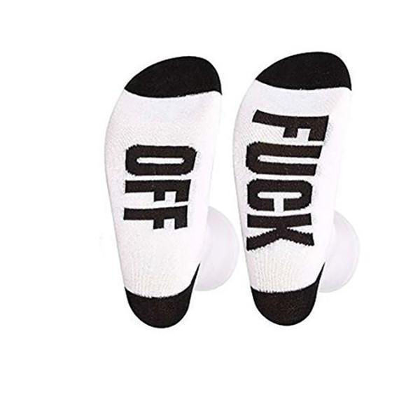 Fuck Off Casual Men And Women English Foot Letter Socks In Tube Cotton Socks