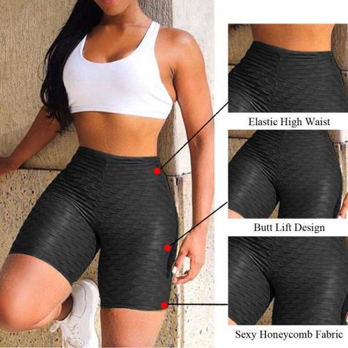EBUYTIDE Workout Running Leggings Athletic Wear Women High Waist Yoga Shorts Tummy Control Fitness Gym Sports Trouser