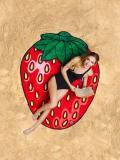 Sweet Strawberry Vacation Round Scarve Shawl Beach Mat
