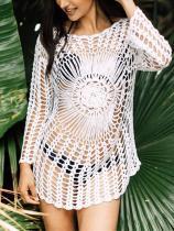 Sexy Hollow Crochet Beach Cover-ups Swimwear
