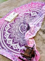 Pretty Bohemia Floral Round Shawl Beach Mat