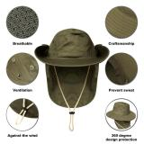 Outdoor Flap Cap Anti-sweat Portable Sunshade Neck Cover Sun Hat Fishing Accessories With Chin Strap Women Men's Sportswear
