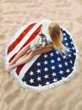 Bohemia Flag Pattern Tassels Round Beach Mat Yoga Mat