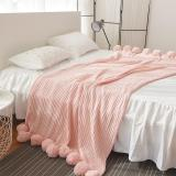 Nordic Hair Ball Tassel Blanket Thicken Knitted BedLinings Air Conditioning Blanket Sofa Bed Cover Tapestry
